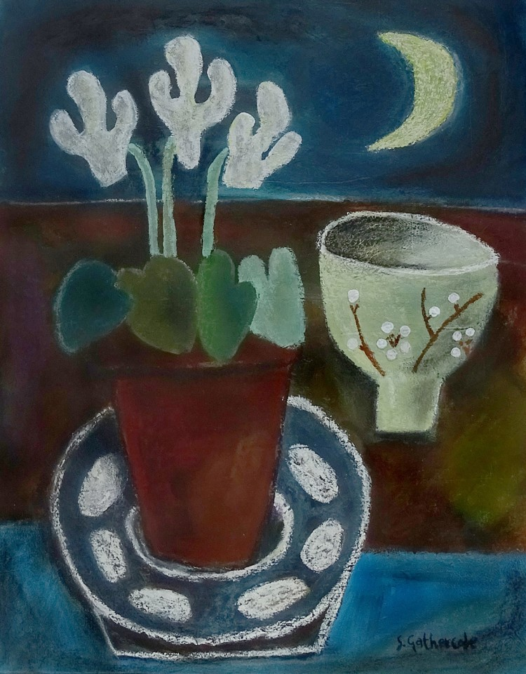Susan Gathercole, Moon and Cyclamen