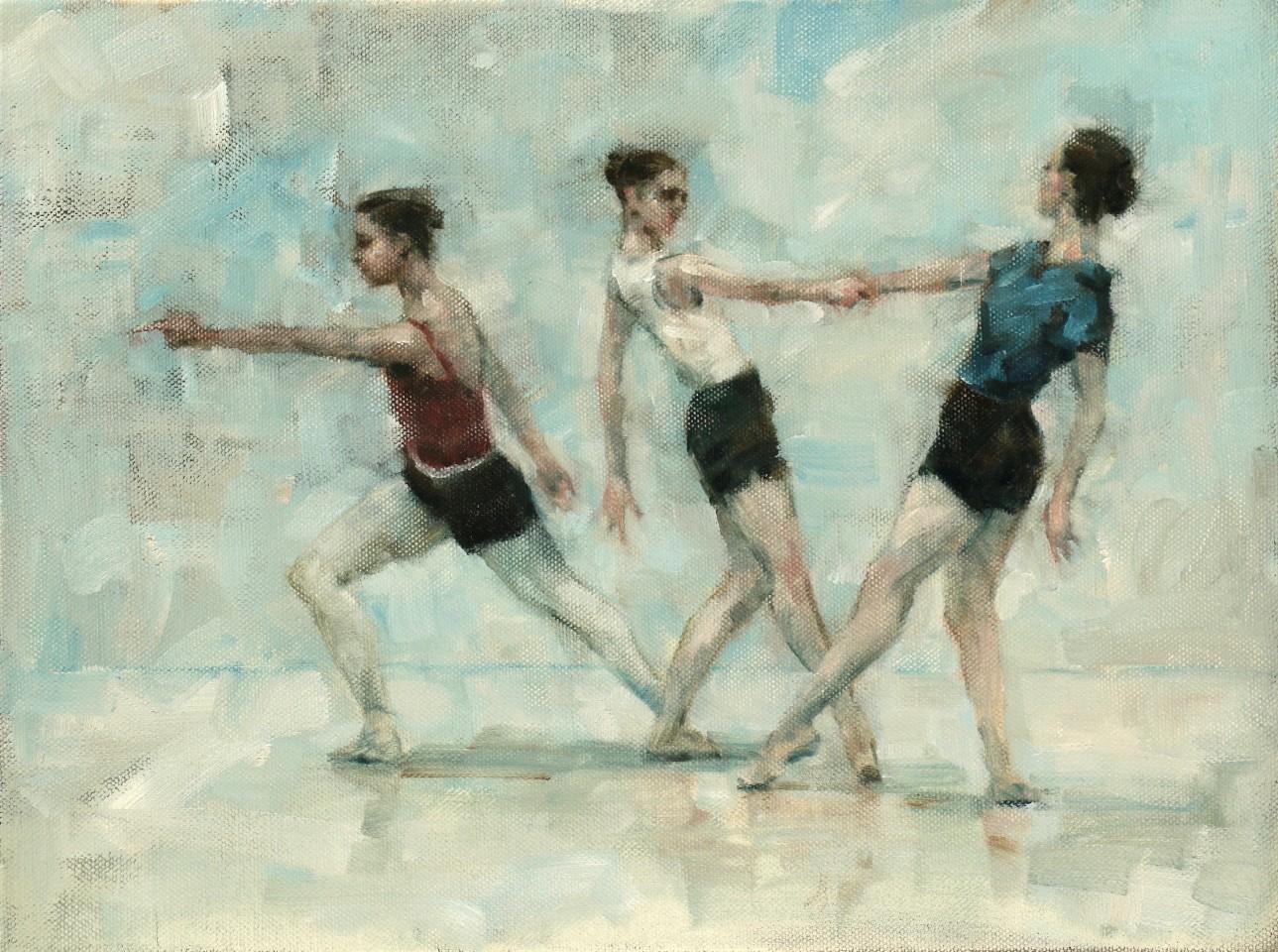 Carl Chapple, Ex Situ - Colleen Grace, Ann Louise Wall & Noami Stienstra (Ballet Cymru Rehearsal 171)
