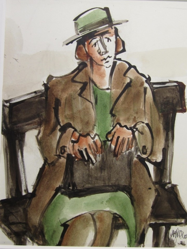 Mike Jones, Lady Seated, Green Hat