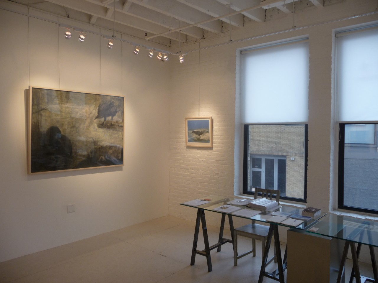 Installation view, Malcolm Moran: A Bird Rested Upon His Thoughts at 571 Projects, NYC