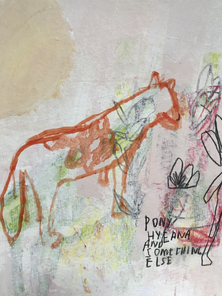 Jimmie James, pony, hyena and something else (Berlin, Germany), 2019
