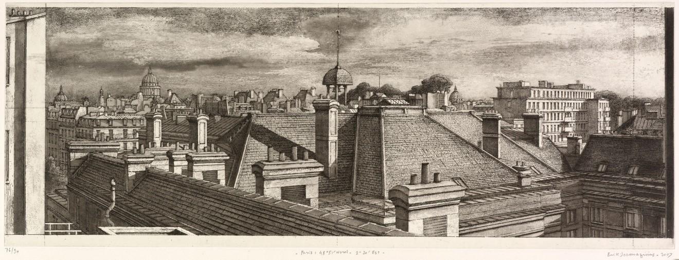Érik Desmazières, Paris : 48° 51' Nord - 2° 20' Est , 2007