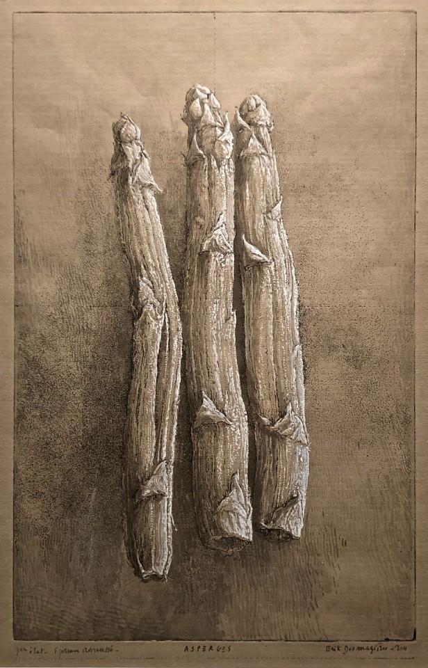 Érik Desmazières, Asperges (épreuve rehaussée), 2011