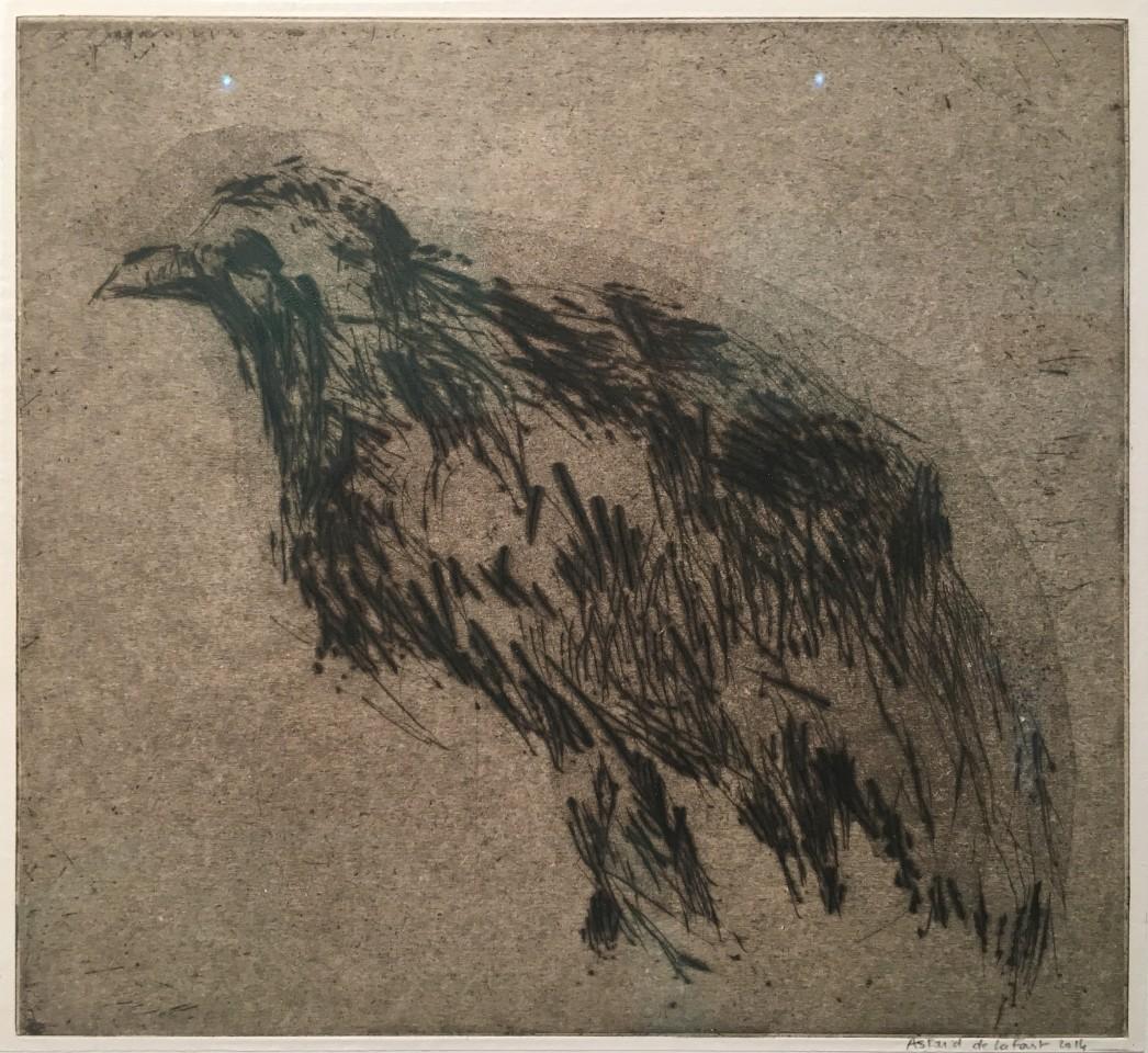 Astrid de La Forest, Empreinte (oiseau noir), 2014