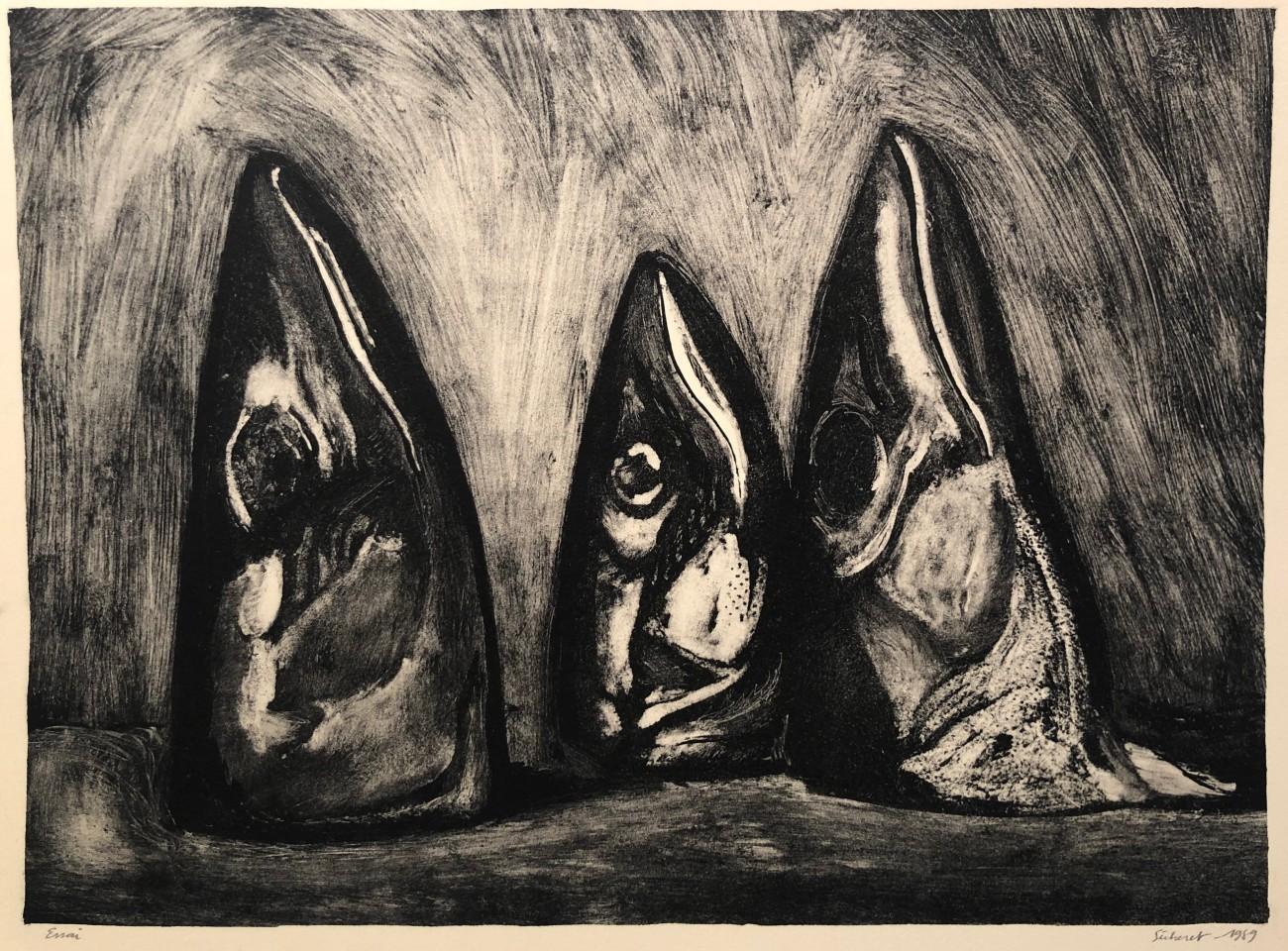 Jean-Baptiste Sécheret, Les Trois maquereaux, 1989