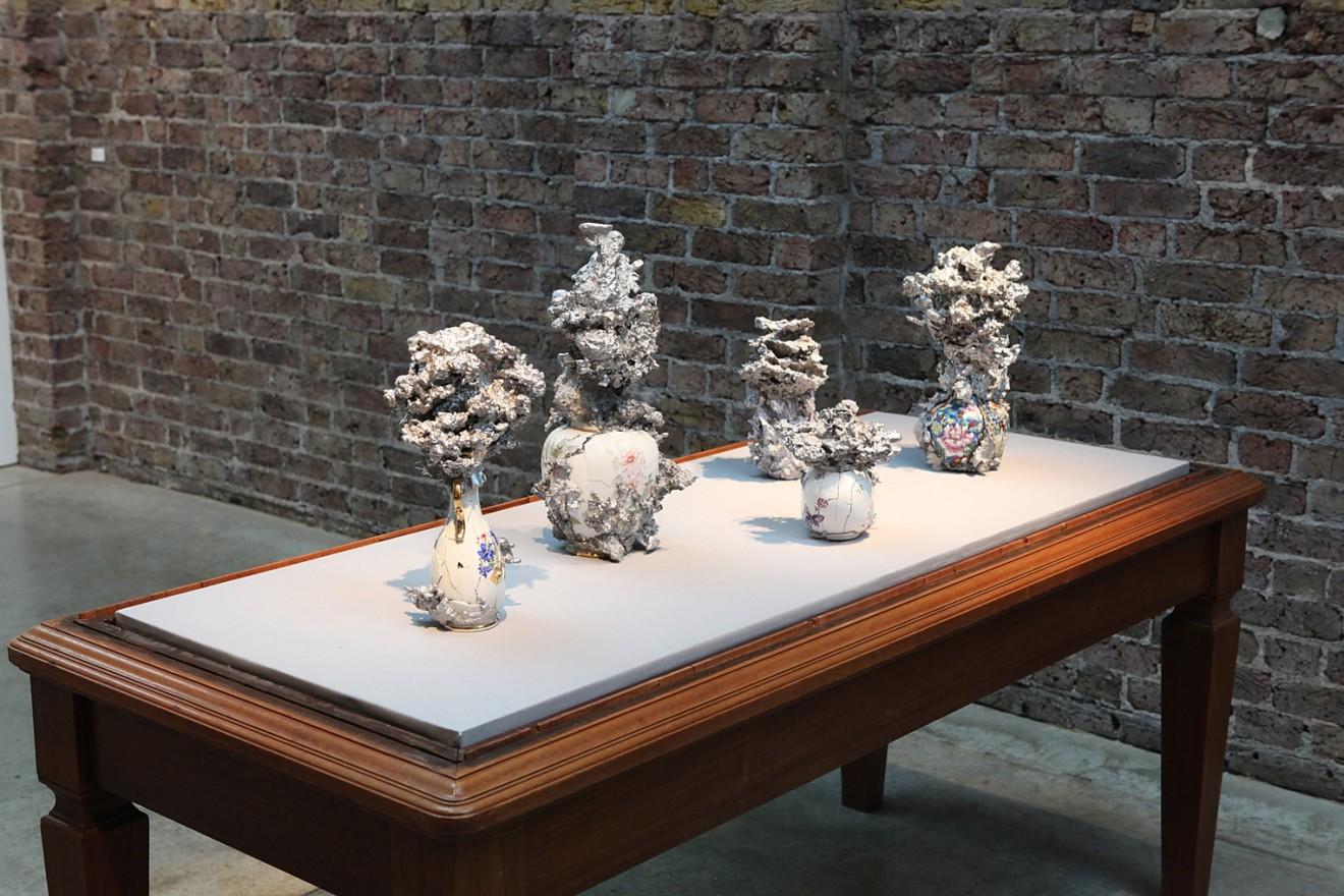 Christian Gonzenbach  Hanabi, 2016  Ceramic, cast aluminum