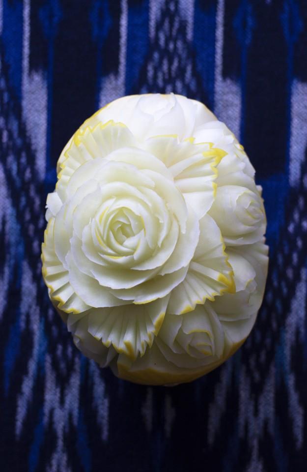 Finchittida Finch – hand carved canary melon