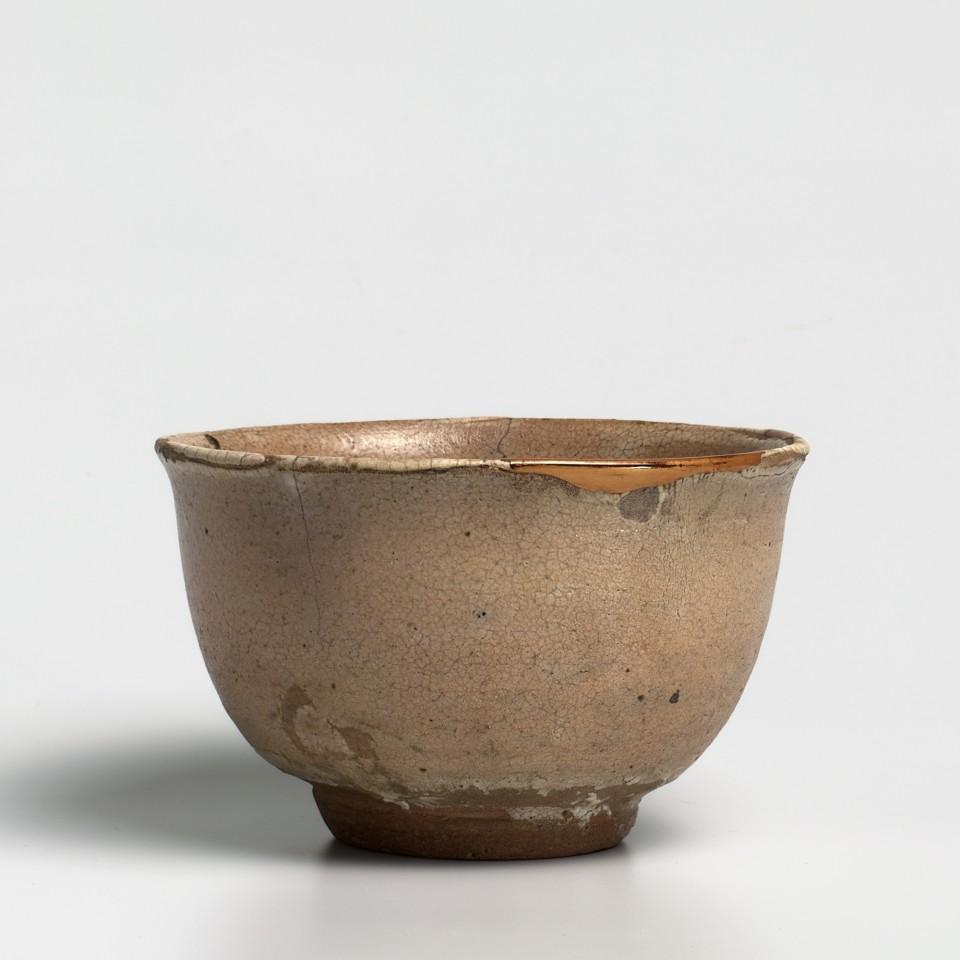 Keramik, #011588 Karatsu Chawan - Teeschale vom Typ oku-gôrai, Momoyama-Zeit (1568-1600)