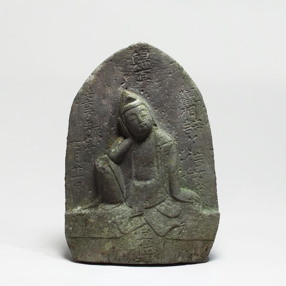 Steinskulpturen, #003834 Stele des Nyoirin-Kannon