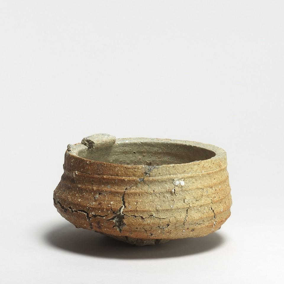 Keramik, #000490 Saya - Brennform für Gefäße, Mino-Seto, Muromachi-Zeit (1338-1573)