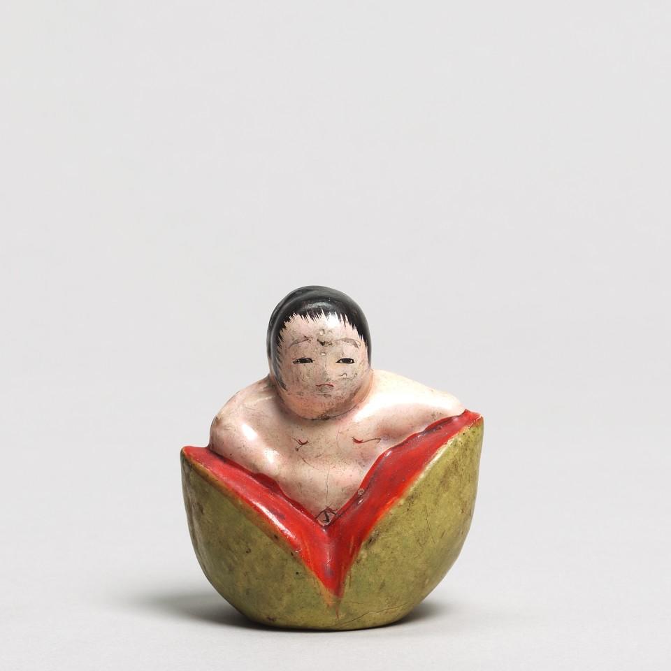 Ningyô, #002223 Neri-Ningyô - Figur aus Sägemehlknetmasse, Momotaro