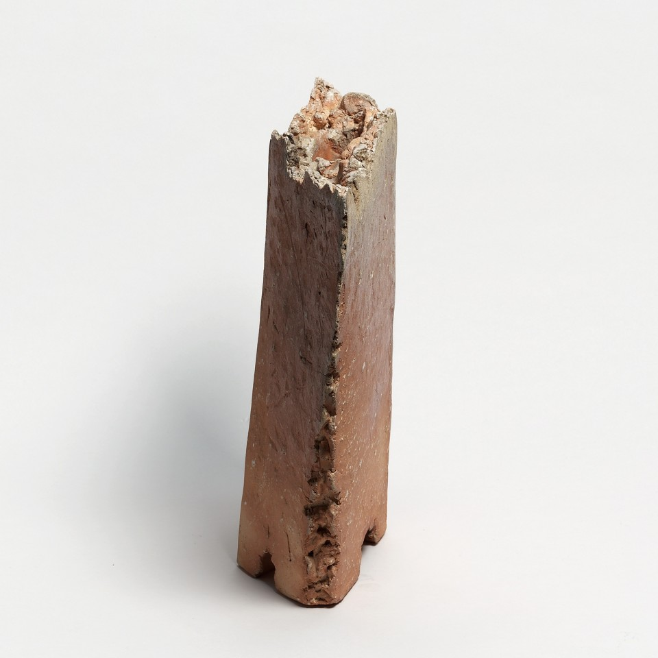 Kei Tanimoto, #020177  Feuerfarbene Vase (iga hiiro kaki), Iga-Typ, 2003