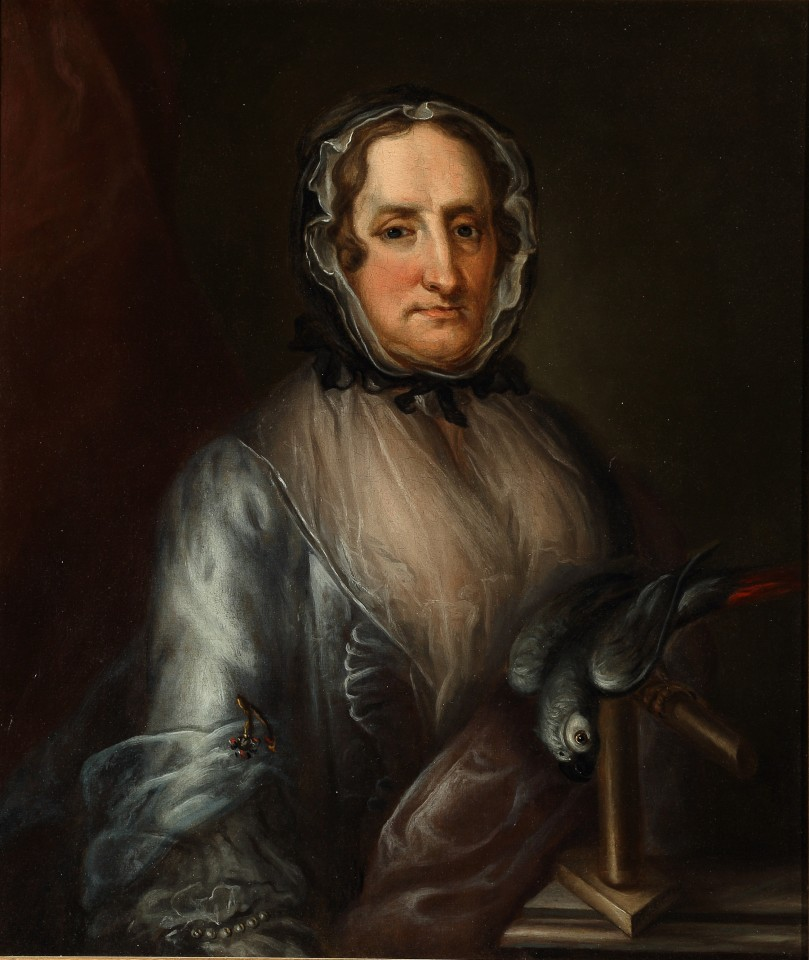 Nathaniel TUCKER, PORTRAIT OF A LADY WITH A PARROT, c1770 ?