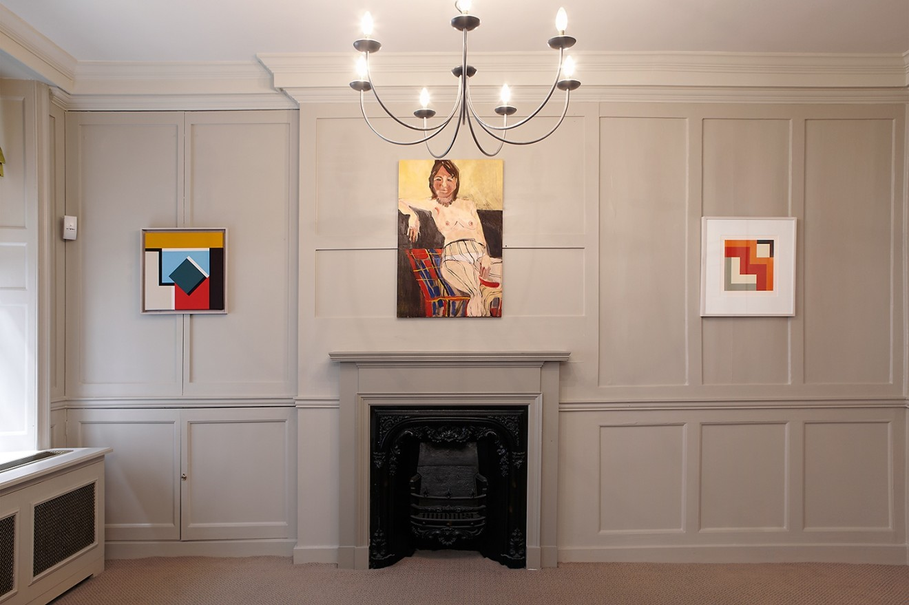 Mary Webb (left and right) and Chantal Joffe (centre)
