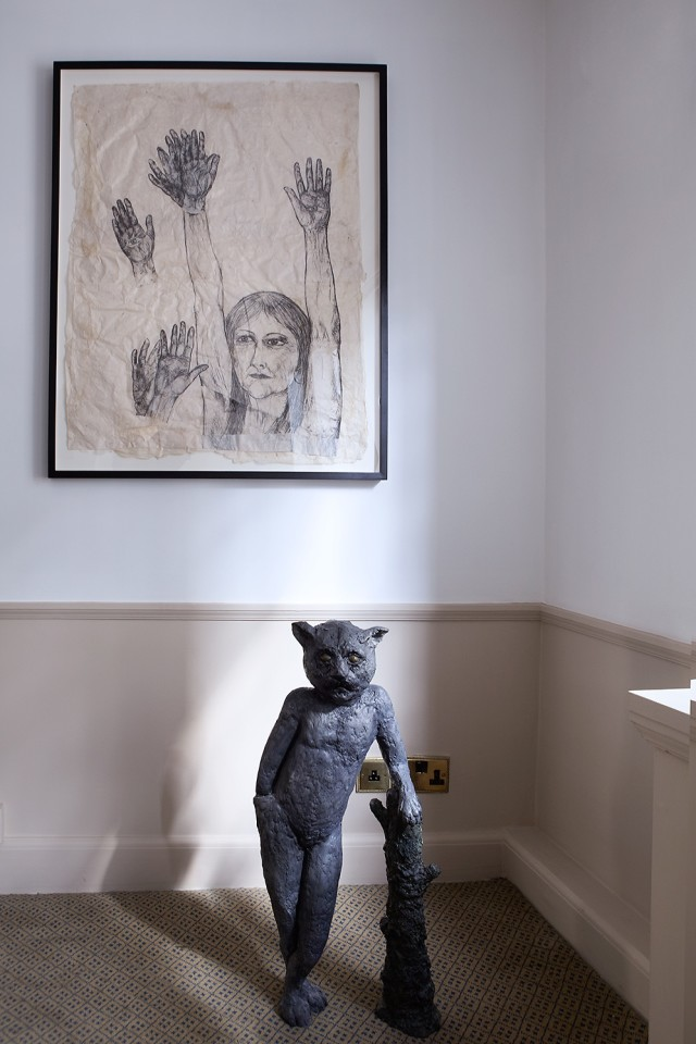 Kiki Smith (above) and Laura Ford (below)