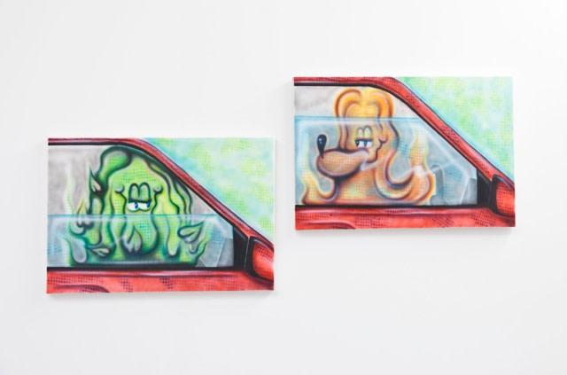 Alex Rathbone, Love III (left) Love IV (right), 2015