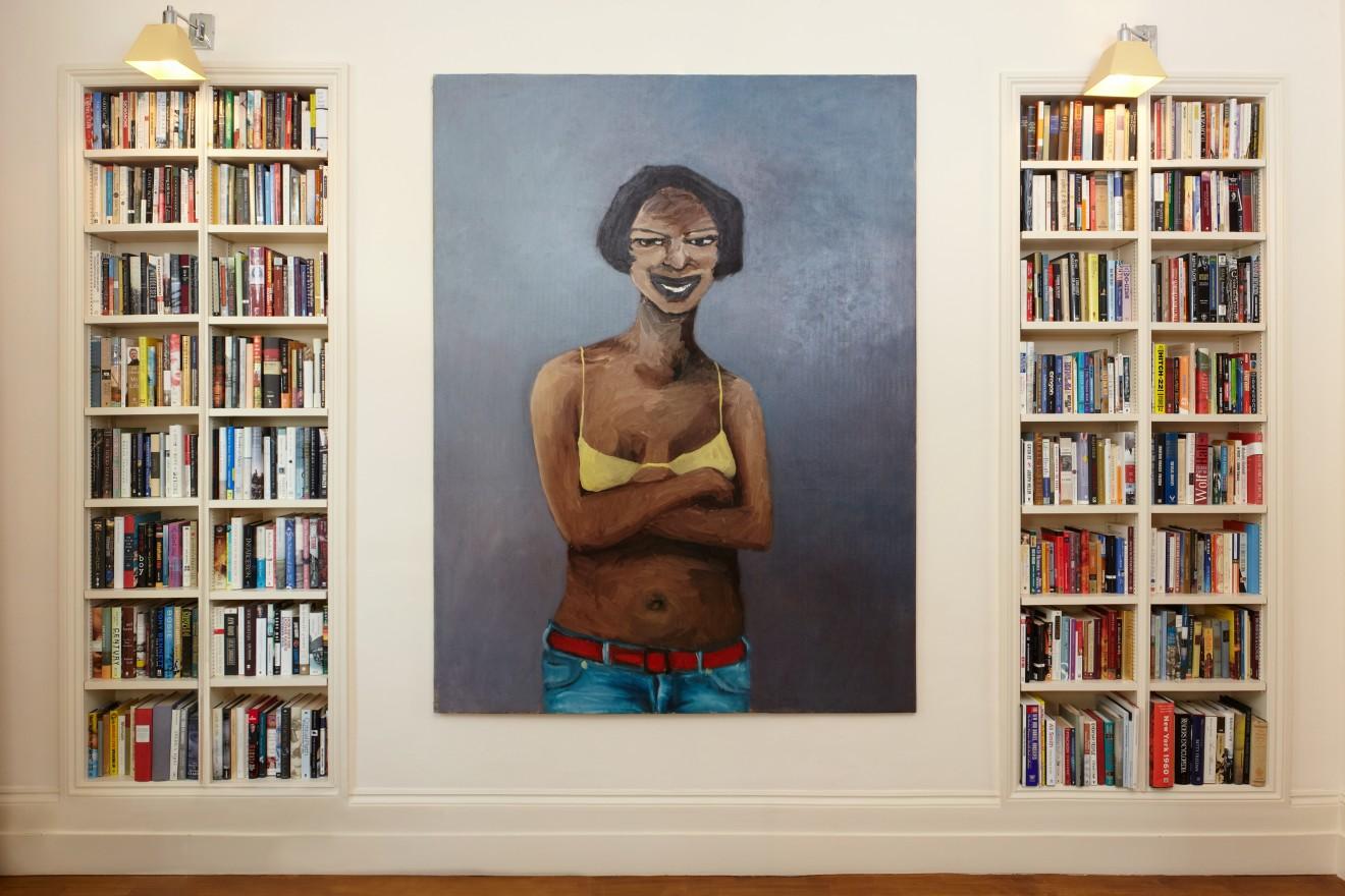 Lynette Yiadom-Boakye, Heaven Help Us All (install shot), 2005