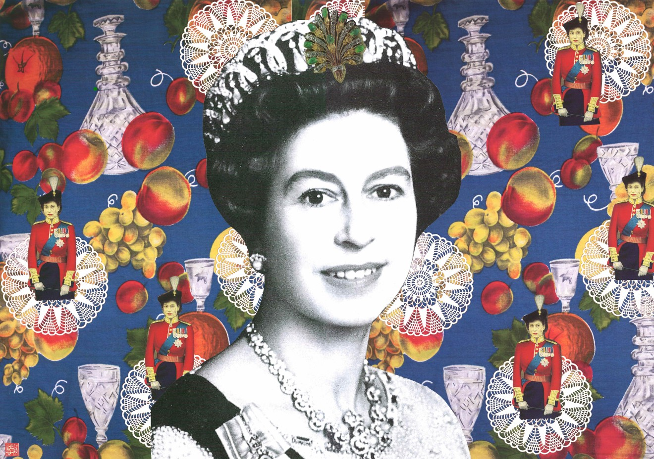 Afsoon, Not Just Any Queen (triptych), 2011