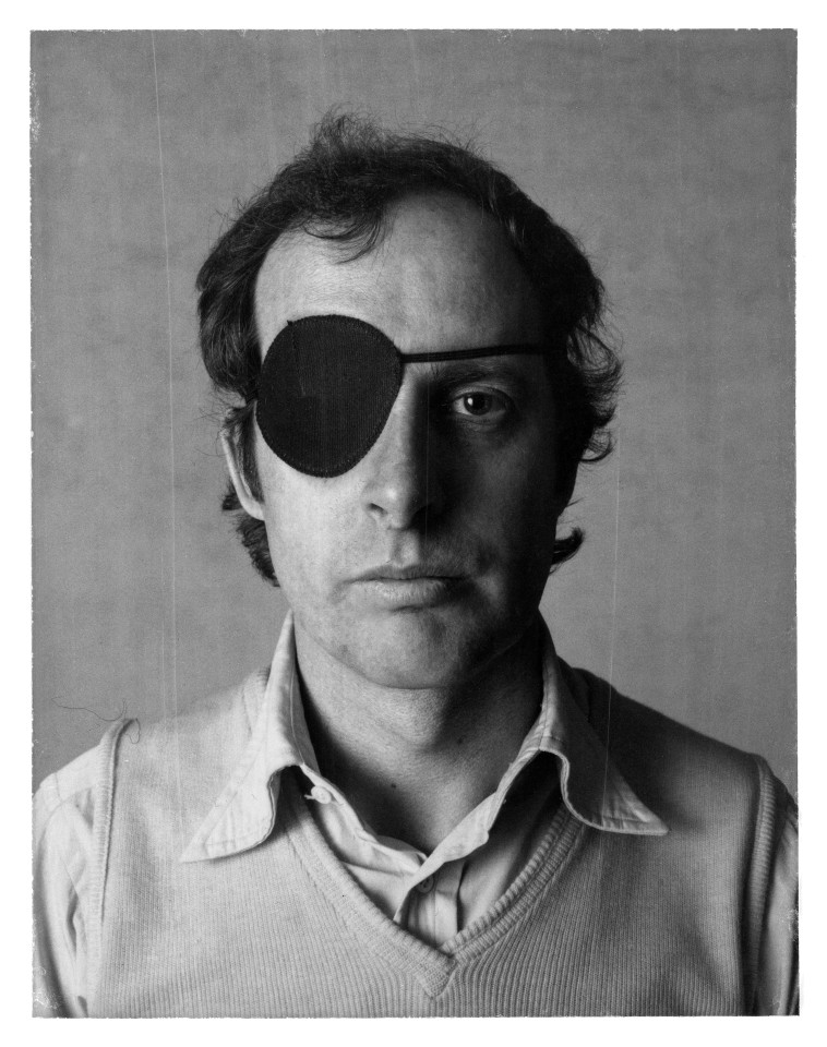 BILLY APPLE, Self-portrait with eye patch, 1973