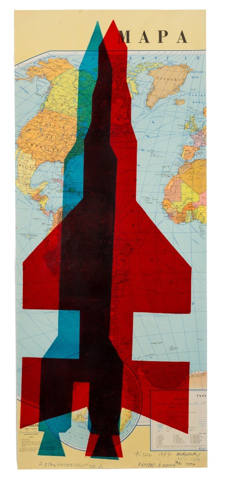 STANO FILKO, Map of the World (Rockets), 1967