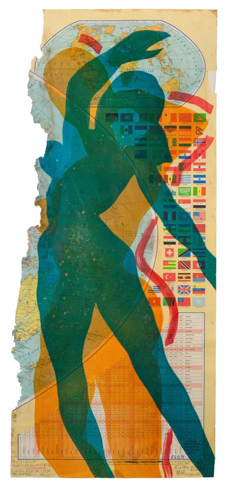 STANO FILKO, Map of the World (Woman), 1967