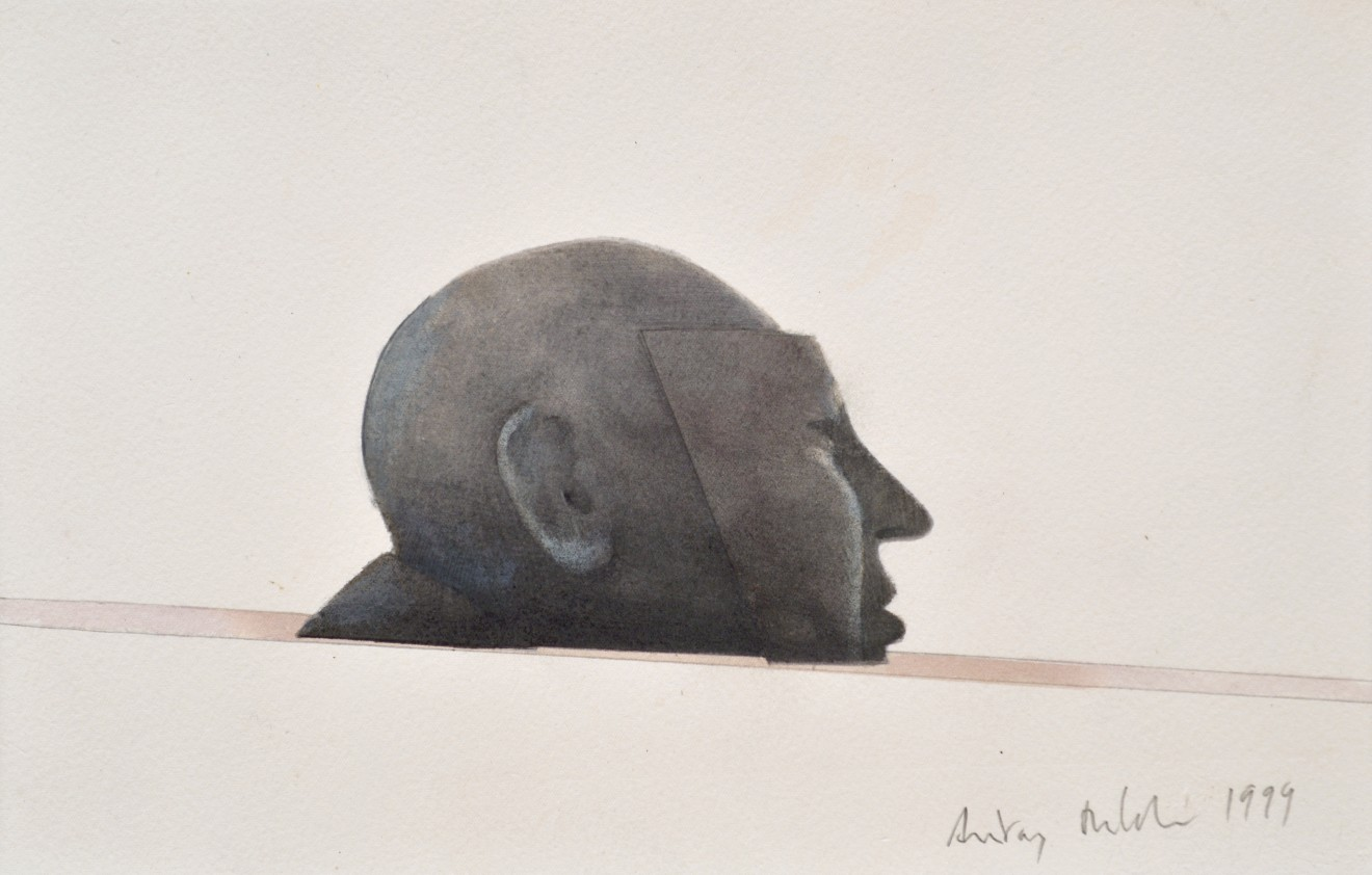 Master of Suspence, 1999  Pencil and watercolour on paper  19 x 30 cm 7 ½ x 11 ¾ inches