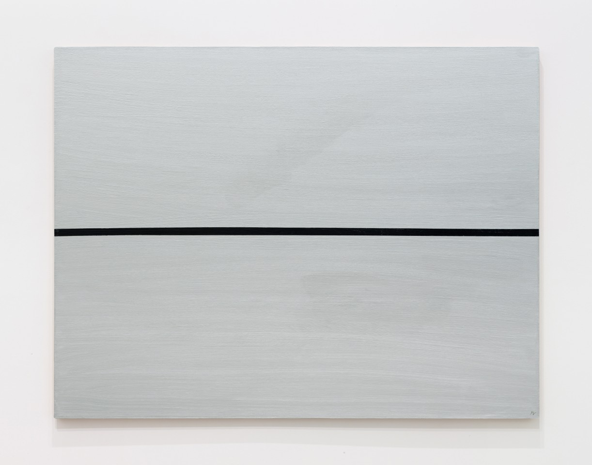 JOSIP VANIŠTA, Black line on a silver surface, 1964‒1997