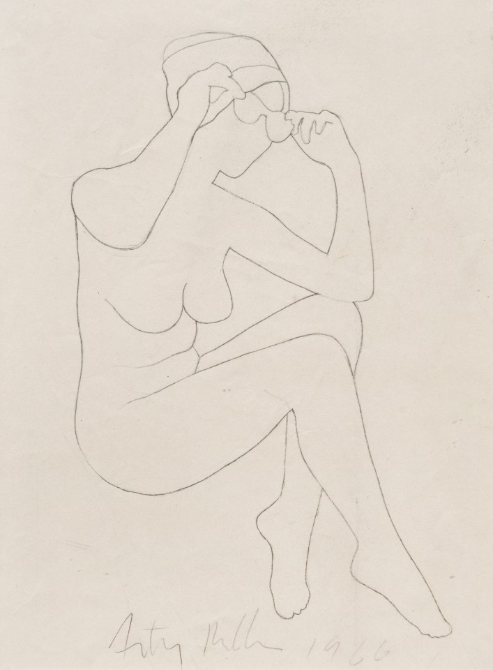 For 6 o'clock Cadillac, 1966  Pencil on paper  38.5 x 28 cm 15 ⅛ x 11 inches