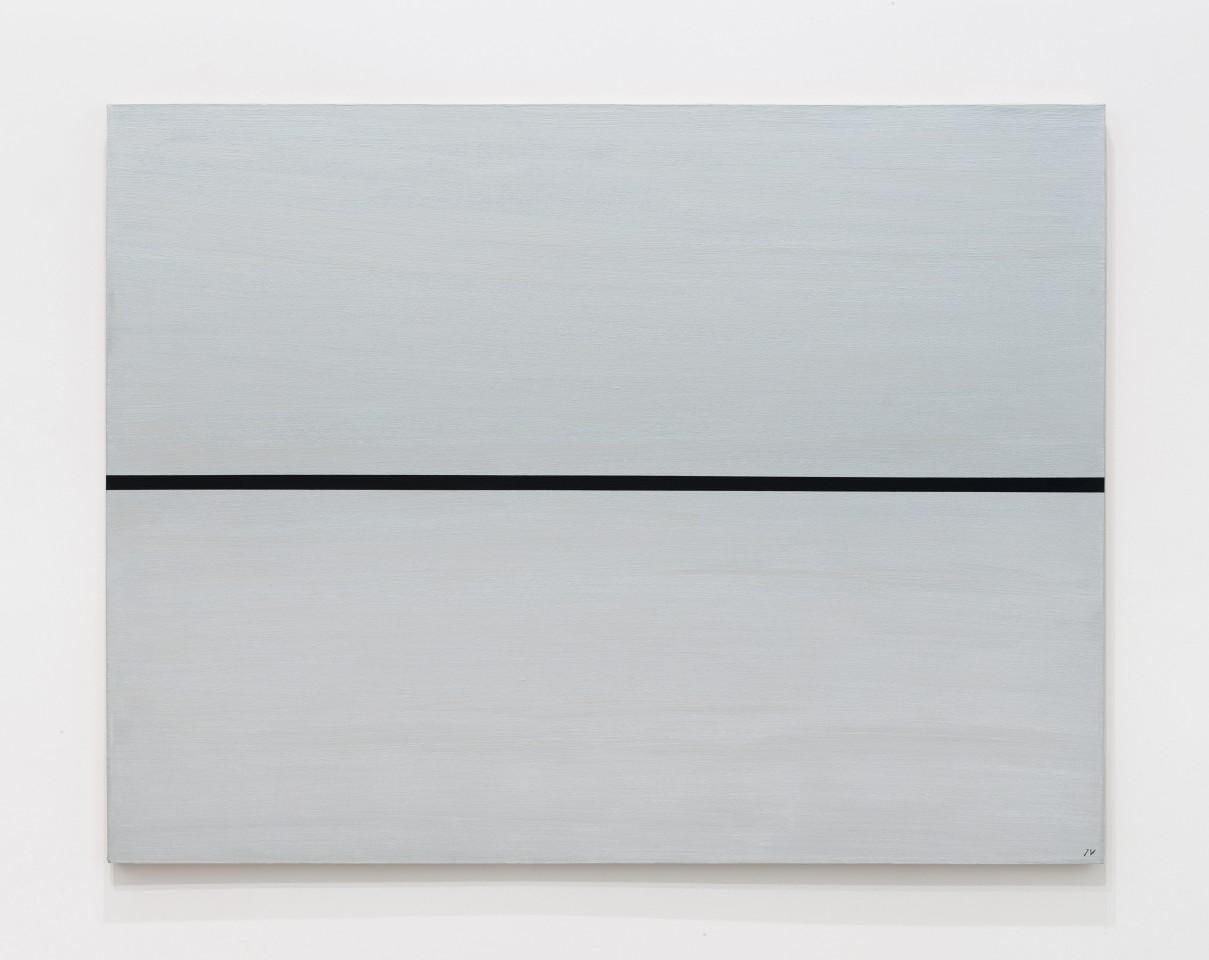 JOSIP VANIŠTA, Black line on a silver surface, 1964‒1997