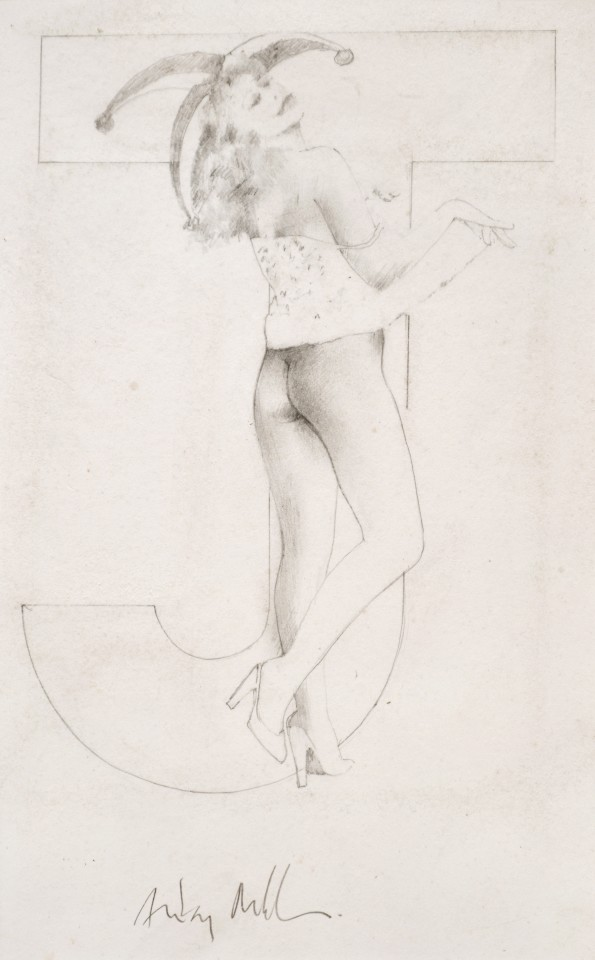 Joker 11, 1975  Pencil on paper  28 x 17 cm 11 x 6 ¾ inches