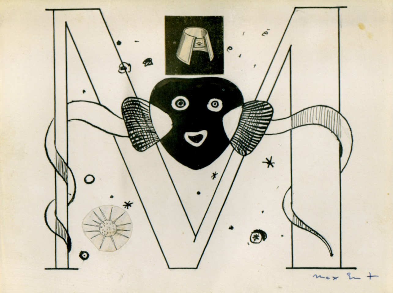 'Initial M' Illustration for Benjamin Péret, La Brebis Galante, Paris, 1949