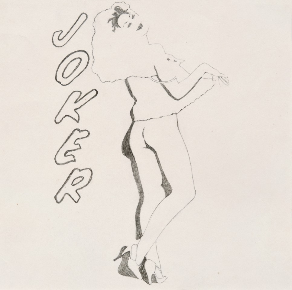 Joker, 1975  Pencil on paper  21 x 21 cm 8 ¼ x 8 ¼ inches