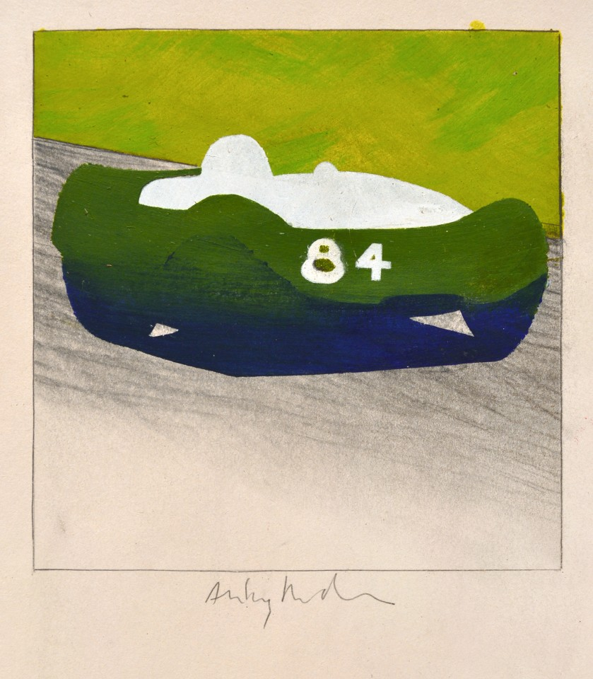Early No 84, 1962  Pencil and acrylic on paper  26 x 16.5 cm 16 ½ x 10 ¼ inches