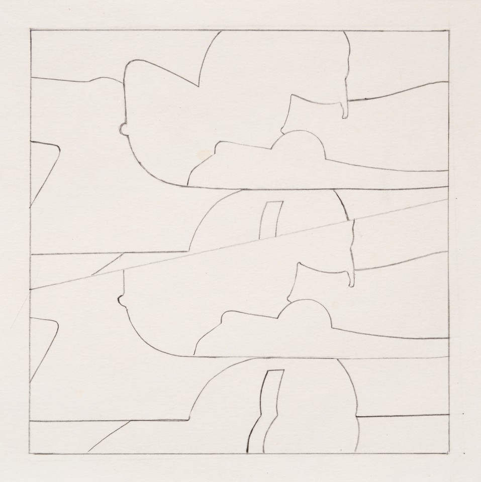 8 x 15 = 60 inches, 1963  Pencil on paper  21 x 22 cm 8 ¼ x 8 ⅝ inches