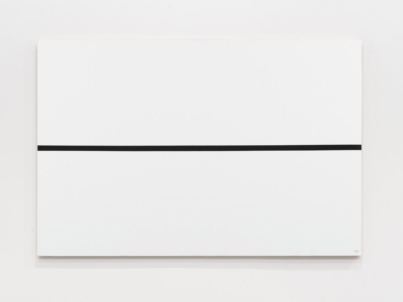 JOSIP VANIŠTA, Black line on a white surface, 1964‒1997