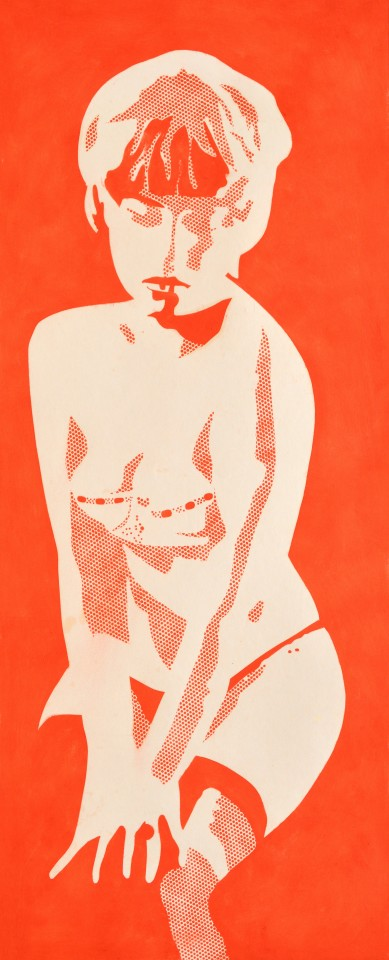The Last Red Girl, 1966  Oil on paper  108 x 49.5 cm 42 ½ x 19 ½ inches