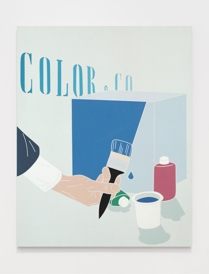Color & Co.  1969  Acrylic on canvas  92 x 73 cm 36 ¼ x 28 ¾ inches