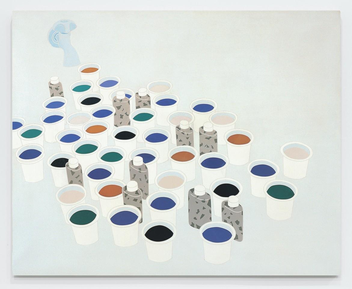 Paesaggio nello studio. Color & Co. / Landscape in the Studio  1970  Acrylic on canvas  130 x 160 cm 51 ⅛ x 63 inches