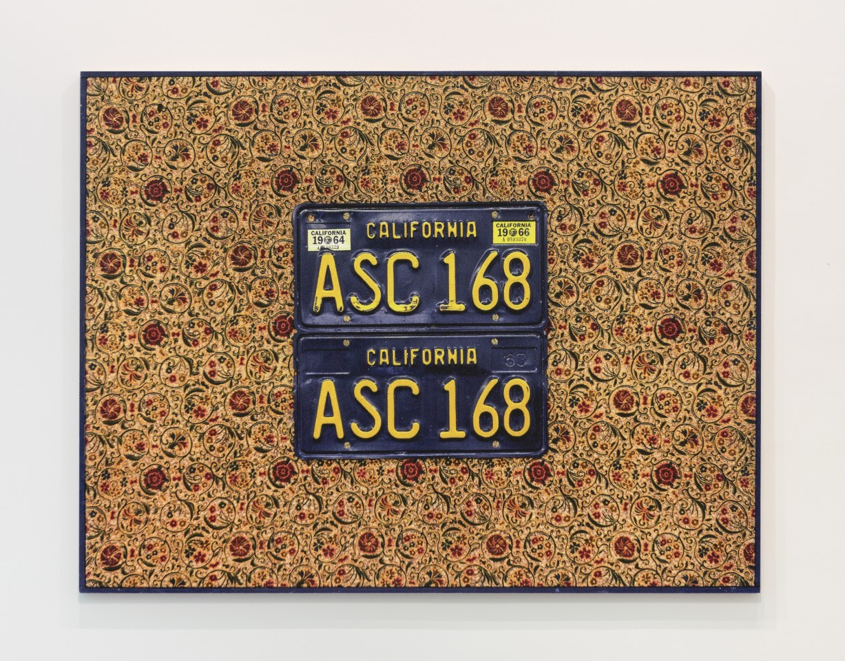 JAN HENDERIKSE, PP 11-A, 1966  License plates on fabric on panel  23 3/4 x 31 1/2 inches  (60 x 80 cm)