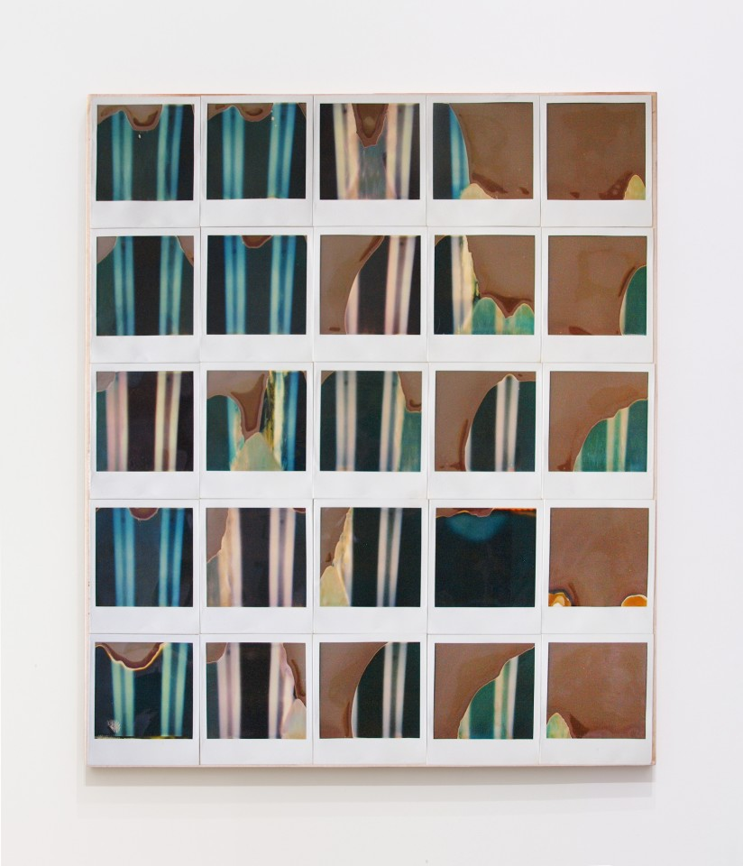 JAN HENDERIKSE, Untitled, 1986  Polaroid photos on canvas on panel  21 1/4 x 17 3/4 inches  (54 x 45 cm)