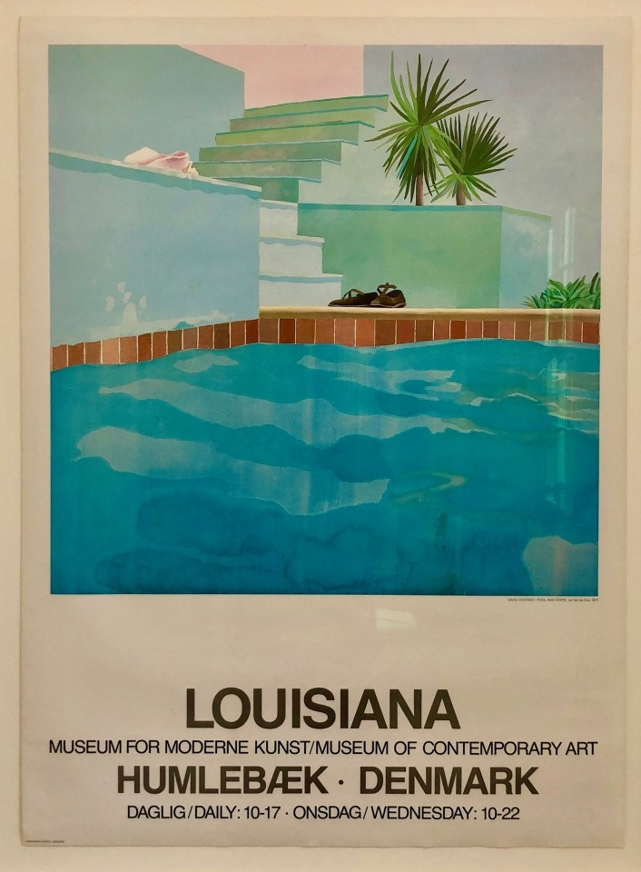 David Hockney, Pool and Steps, 1987