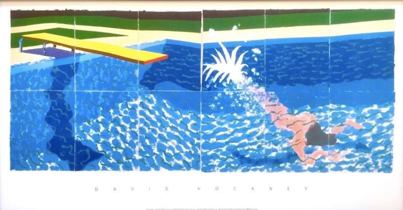 David Hockney, Le Plongeur, 1994