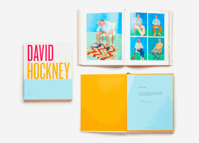 David Hockney, 'Current' Collectors Edition Hand Signed, 2016