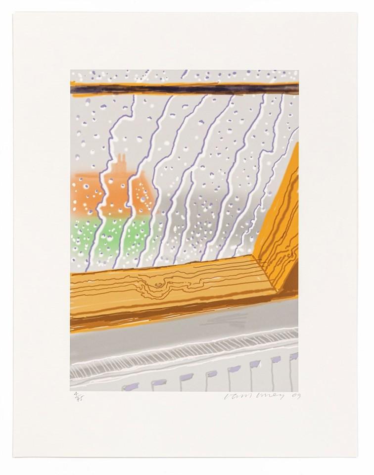 David Hockney, Rain on the Studio Window, 2009