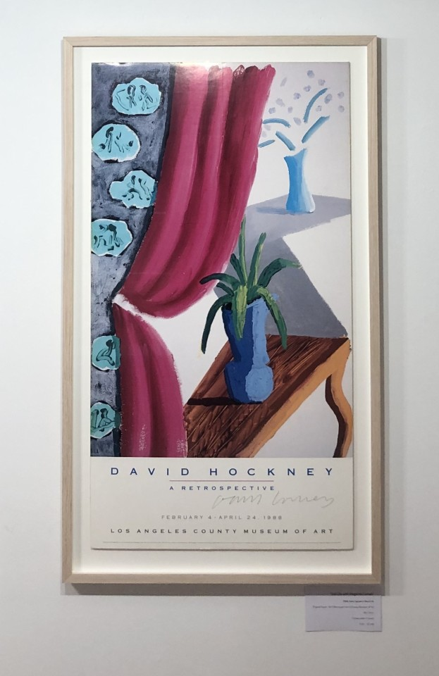 David Hockney, Still Life with Magenta Curtain , 1988