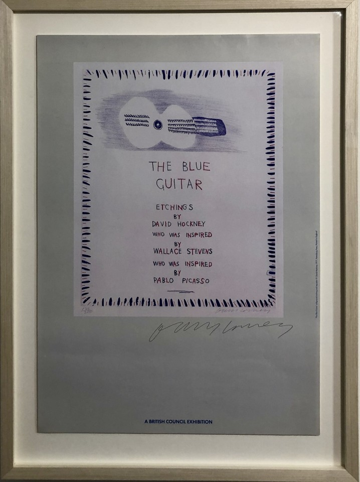 David Hockney, Hand Signed The Blue Guitar: Etchings , 1983