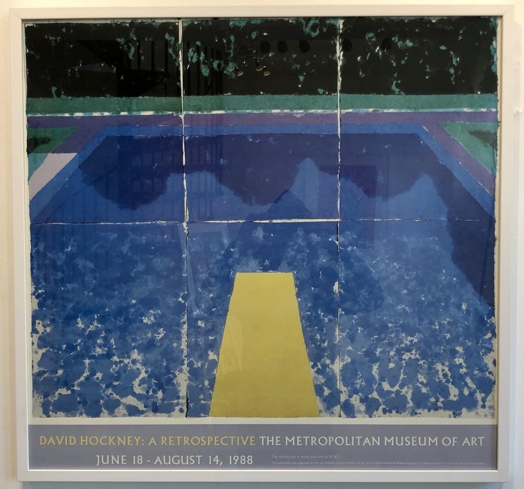 David Hockney, David Hockney 'Day Pools with Three Blues', 1988