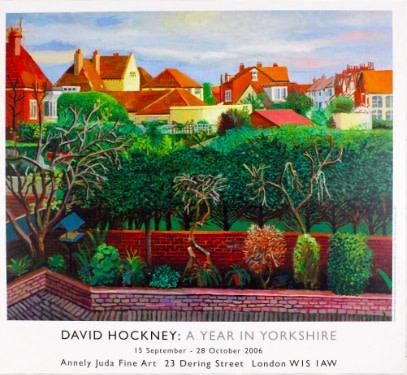 David Hockney, Bridlington Rooftops, 2006