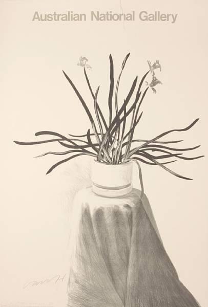 David Hockney, Hand Signed 'Potted Daffodils', 1981