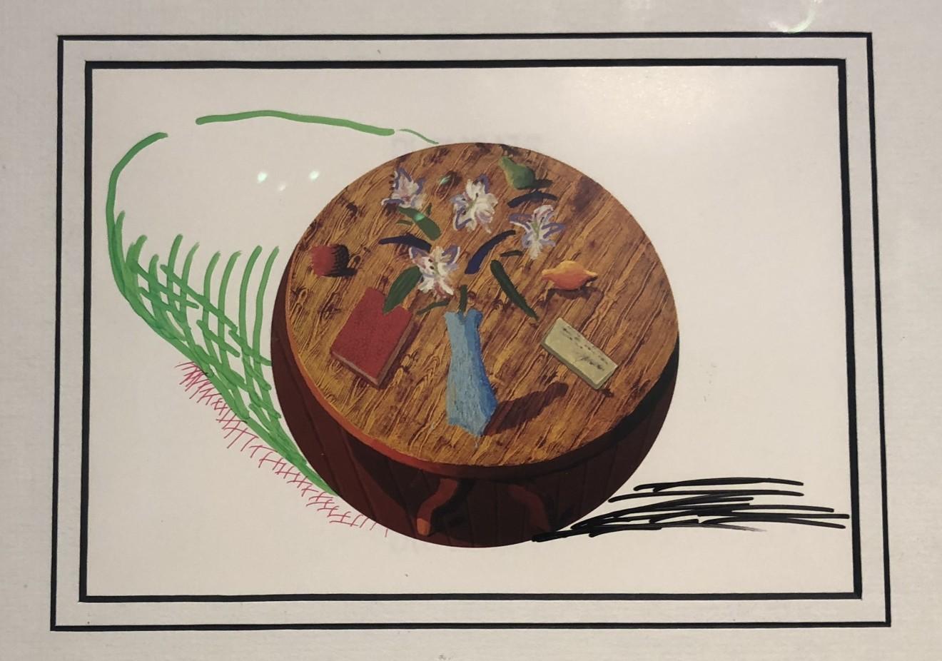 David Hockney, Hand Drawn Moving Ball Original David Hockney, 1988